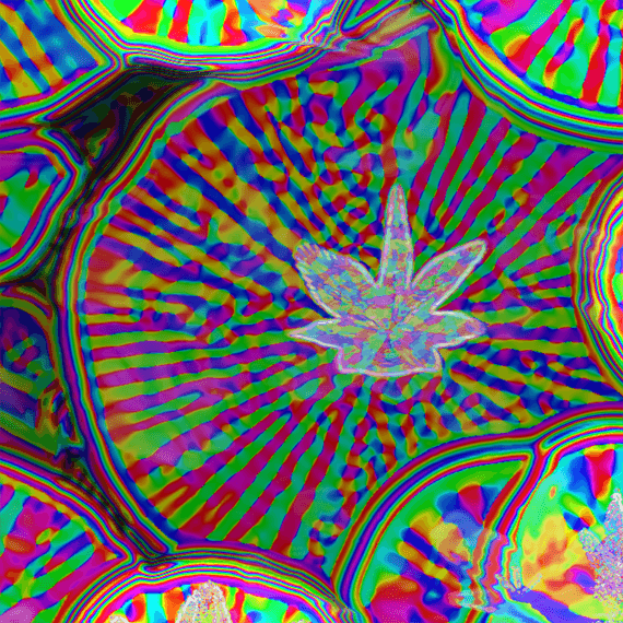 This is a swirly art experience. Rainbow psychedelic colors swirl and merge together.